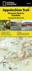 Buy map Appalachian Trail Topographic Map Guide, Pleasant Pond to Katahdin by National Geographic Maps from Maine Maps Store
