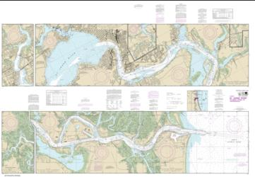 Buy map St. Johns River Nautical Chart (11490) by NOAA from Florida Maps Store