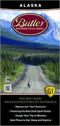 Buy map Alaska Motorcycle Map by Butler Motorcycle Maps from Alaska Maps Store