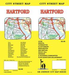 Buy map Hartford, Connecticut by GM Johnson from Connecticut Maps Store