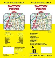 Buy map Dayton, Ohio by GM Johnson from Ohio Maps Store