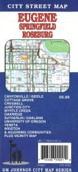 Buy map Eugene, Springfield and Roseburg, Oregon by GM Johnson from Oregon Maps Store