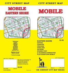 Buy map Mobile, Alabama Street Map by GM Johnson from Alabama Maps Store