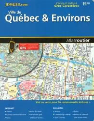 Buy map Quebec City and Environs, Road Atlas by Canadian Cartographics Corporation from Quebec Maps Store