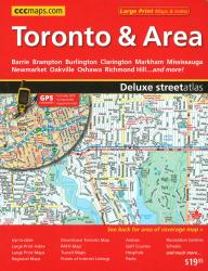 Buy map Toronto and Area Deluxe Street Atlas by Canadian Cartographics Corporation from Ontario Maps Store