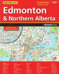 Buy map Edmonton and Northern Alberta Communities, Street Atlas by Canadian Cartographics Corporation from Alberta Maps Store
