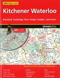 Buy map Kitchener and Waterloo ON, Street Atlas by Canadian Cartographics Corporation from Ontario Maps Store
