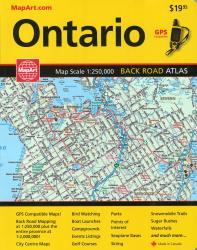 Buy map Ontario, Back Road Atlas by Canadian Cartographics Corporation, MapArt Corporation