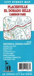 Buy map Placerville, El Dorado Hills and Cameron Park, California by GM Johnson from California Maps Store