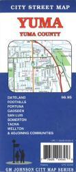 Buy map Yuma and Yuma County, Arizona by GM Johnson from Arizona Maps Store