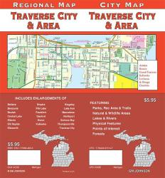 Buy map Traverse City, Michigan, Vicinity by GM Johnson