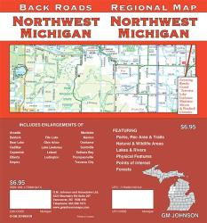 Buy map Michigan, Northwest, Back Roads by GM Johnson from Michigan Maps Store