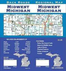 Buy map Michigan, Midwestm Back Roads by GM Johnson from Michigan Maps Store