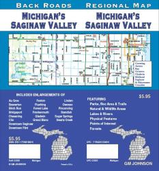 Buy map Michigan, Saginaw Valley, Back Roads by GM Johnson from Michigan Maps Store
