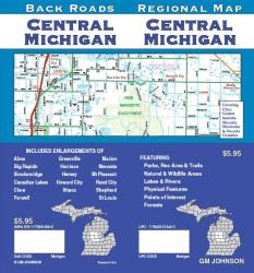 Buy map Michigan, Central, Back Roads by GM Johnson from Michigan Maps Store