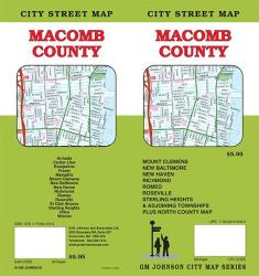 Buy map Macomb County, Michigan by GM Johnson in Michigan Map Store