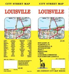 Buy map Louisville, Kentucky and New Albany, Indiana by GM Johnson from Kentucky Maps Store