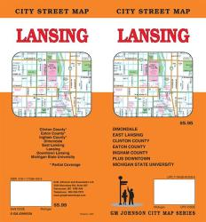 Buy map Lansing, Michigan by GM Johnson from Michigan Maps Store