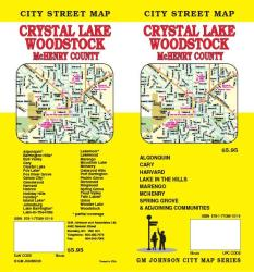 Buy map Crystal Lake, Woodstock and McHenry County, Illinois by GM Johnson from Illinois Maps Store