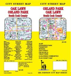 Buy map Orland Park, Oak Lawn and South Cook County, Illinois by GM Johnson from Illinois Maps Store