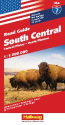 Buy map USA 7: South Central, Central Plains and Ozark Plateau by Hallwag from United States Maps Store