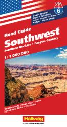 Buy map USA 6: Southwest USA and Southern Rockies by Hallwag from United States Maps Store