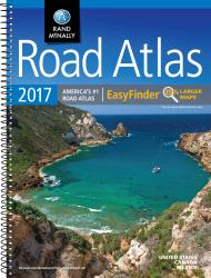 Buy map United States, Canada and Mexico, 2017 Midsize Deluxe Easy to Read Road Atlas by Rand McNally from United States Maps Store