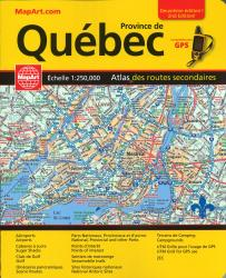 Buy map Quebec, Back Road Atlas by Canadian Cartographics Corporation from Ontario Maps Store