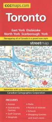 Buy map Toronto, Ontario Street map by Canadian Cartographics Corporation from Ontario Maps Store