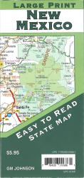 Buy map New Mexico Large Print, New Mexico State Map by GM Johnson from New Mexico Maps Store