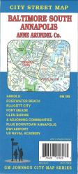 Buy map Baltimore South, Annapolis, and Anne Arundel County, Maryland by GM Johnson from Maryland Maps Store