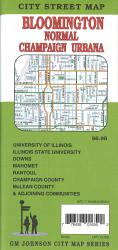 Buy map Bloomington, Normal, Champaign and Urbana, Illinois by GM Johnson from Illinois Maps Store