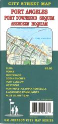 Buy map Port Angeles, Port Townsend, Sequim, Aberdeen and Hoquiam, Washington by GM Johnson from Washington Maps Store