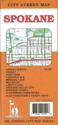 Buy map Spokane, Washington by GM Johnson from Washington Maps Store