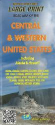 Buy map Central and Western United States, includin Alaska and Hawaii by Global Graphics from United States Maps Store