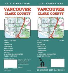 Buy map Vancouver and Clark County, Washington by GM Johnson in Washington Map Store