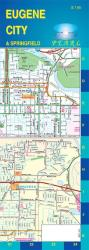 Buy map Eugene and Springfield, Oregon, Pearl Map, laminated by GM Johnson from Oregon Maps Store
