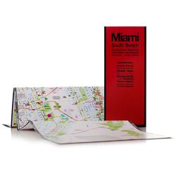 Buy map Miami, Florida with South Beach by Red Maps from Florida Maps Store