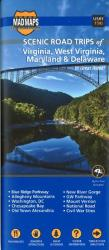 Buy map Virginia, West Virginia, Maryland and Delaware, Scenic Road Trips by MAD Maps from United States Maps Store