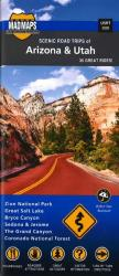 Buy map Arizona and Utah, Regional Scenic Tours by MAD Maps from United States Maps Store