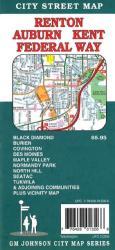 Buy map Renton, Auburn, Kent and Federal Way, Washington by GM Johnson from Washington Maps Store