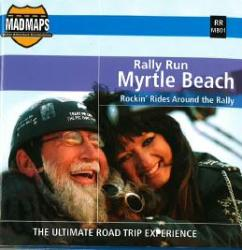 Buy map Mad Maps - Rally Run Road Trip Map - Myrtle Beach - RRMB01 by MAD Maps from South Carolina Maps Store