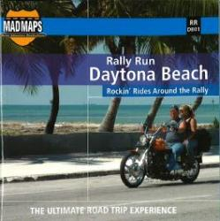 Buy map Mad Maps - Rally Run Road Trip Map - Daytona Beach - RRDB01 by MAD Maps from Florida Maps Store