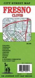 Buy map Fresno and Clovis, California by GM Johnson