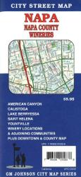 Buy map Napa and Napa County, California, Wineries by GM Johnson from California Maps Store