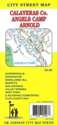 Buy map Calaveras County, Angels Camp and Arnold, California by GM Johnson
