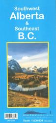 Buy map Alberta, Southwest and British Columbia, Southeast by Gem Trek from Canada Maps Store