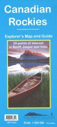 Buy map Canadian Rockies (Banff, Jasper, Yoho) by Gem Trek from Canada Maps Store