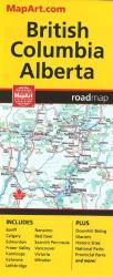 Buy map British Columbia and Alberta, Road Map by Canadian Cartographics Corporation, MapArt from Alberta Maps Store