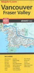 Buy map Vancouver and Fraser Valley, Street Map by Canadian Cartographics Corporation, MapArt